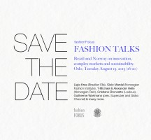 Save the date: FASHION TALKS Tuesday August 13th